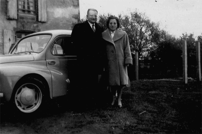Joseph Malinge in 1954 with his wife